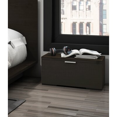 Decimus 1 Drawer Nightstand Finish: Dark Espresso