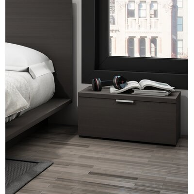 Decimus 1 Drawer Nightstand Finish: Charcoal Gray