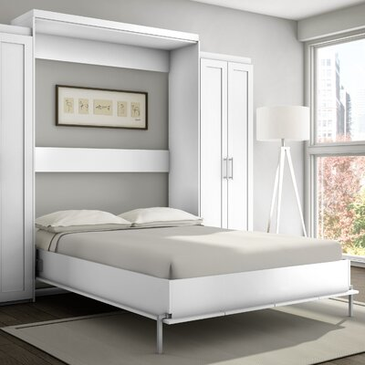 Shaker Murphy Bed Finish: White, Size: Queen