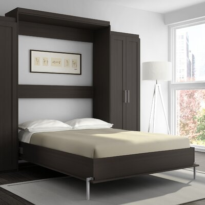 Shaker Murphy Bed Color: Charcoal Brown, Size: Queen