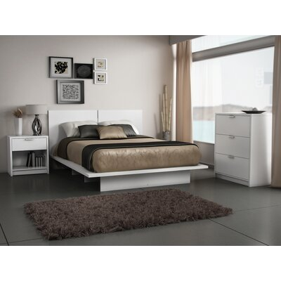 Queen  Room Sets on Stellar Home Eva Queen Bedroom Set In Pure