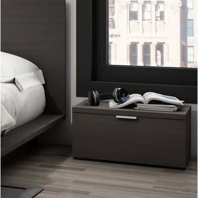 Decimus 1 Drawer Nightstand Color: Charcoal Gray