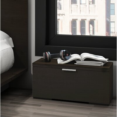 Decimus 1 Drawer Nightstand Color: Dark Espresso