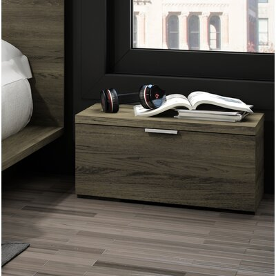 Decimus 1 Drawer Nightstand Color: Rustic Cinnamon
