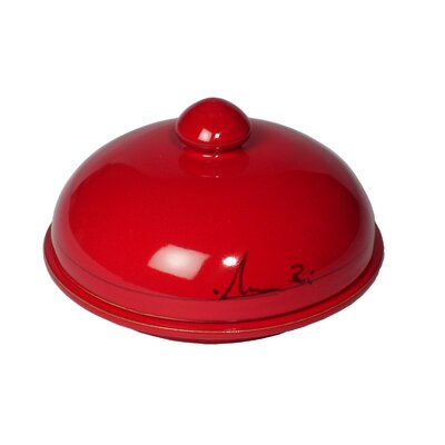 Mamma Ro Covered Butter Dish In Red