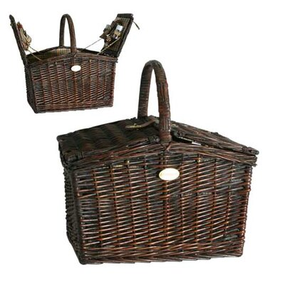 Fairmont Picnic Basket in Black Plaid