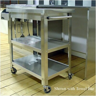Cocina Kitchen Serving Cart with Towel Holder and Drawer