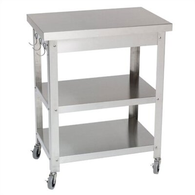 Danver B0618564Cocina Kitchen Serving Cart - Drawer: Without Drawer, Towel Bar: Without Towel Bar at Sears.com