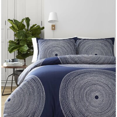 Fokus Reversible Duvet Cover Set Size: Twin