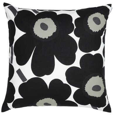 Pieni Unikko Cotton Pillow Cover Color: Black/White
