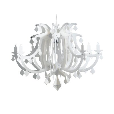 Ginetta 1-Light Crystal Pendant Color: White