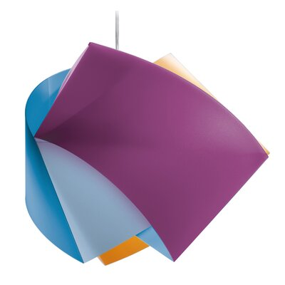 Gemmy 1-Light Mini Pendant Color: Arlechino (Purple / Orange / Blue)