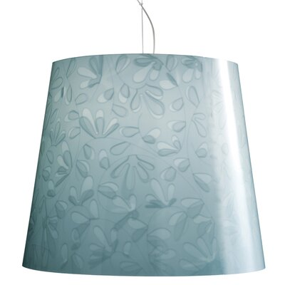 Marie Fleur 1-Light Mini Pendant Color: Light Blue