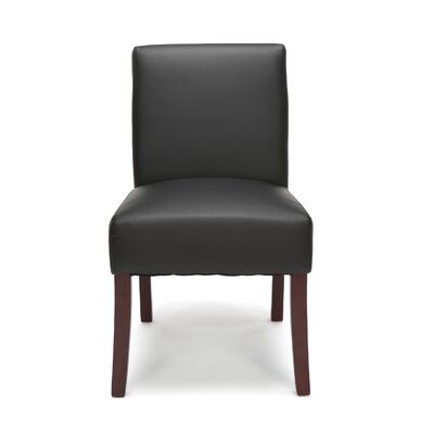 Onorato Armless Guest Chair Seat Color: Black