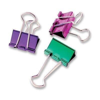 Binder Clip, Small, 3/4, 8/PK, Metallic Assorted (Set of 3)