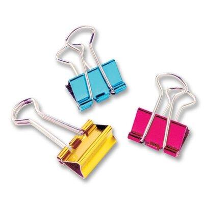 Mini Binder Clip, 1/2, 12 per Pack, Metallic Assorted (Set of 3)