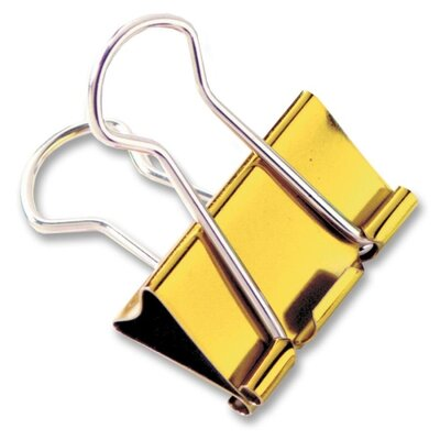 Binder Clips, Large, 1-1/4, 4 per Pack, Metallic Assorted (Set of 3)