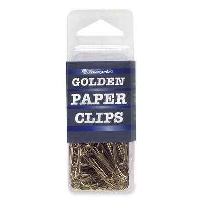 Standard Paper Clips, 1, 100 per Pack, Gold (Set of 3)