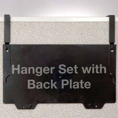 Filing System Hangers, For Panels, 1-1/4 to 3 Thick, Black