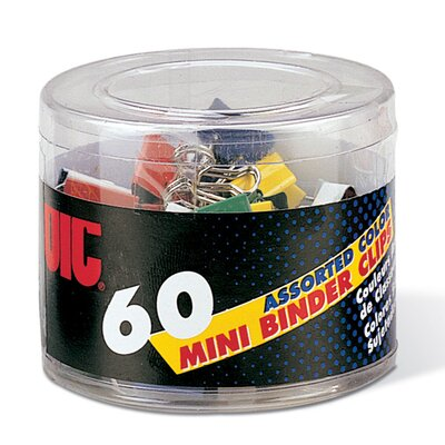 Mini Binder Clips, Metal, Assorted