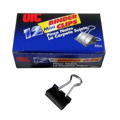 Binder Clips,Mini,9/16Wide,1/4 Cap, 12/BX, Black/Silver
