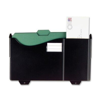 Add-On Pocket for Filing System, 15-3/4x3-1/8x9-3/4, Black