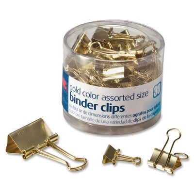 Binder Clip Finish: Gold