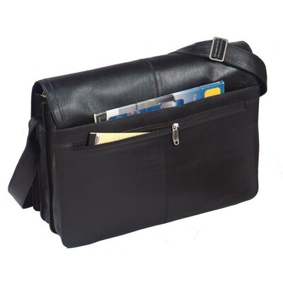 Harness Cowhide Leather Messenger Bag with Removable Computer Sleeve
