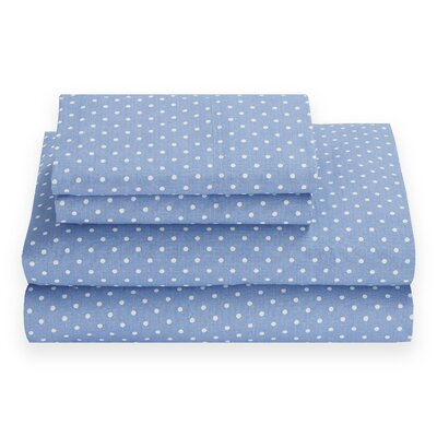 Chambray Dot 180 Thread Count Sheet Set Size: Twin XL