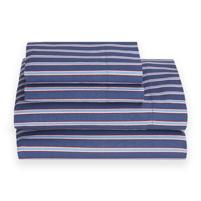 Christopher Stripe 180 Thread Count Sheet Set Size: Queen