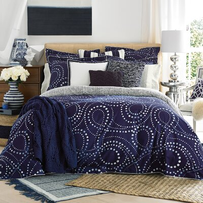 California Dot 3 Piece Duvet Set Size: Full/Queen