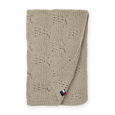 Bar Harbor Cotton Throw Color: Taupe