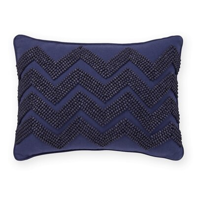 California Dot Beaded Chevron Decorative Pillow