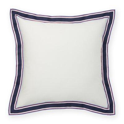 Grosgrain Flange Decorative Cotton Throw Pillow