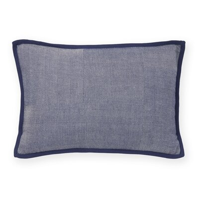 Herringbone Check Decorative Cotton Lumbar Pillow