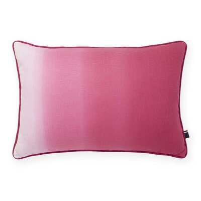 Ombre Decorative Cotton Lumbar Pillow Color: Fuchsia