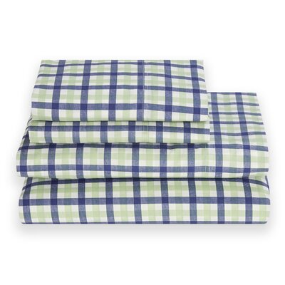 Block Island 180 Thread Count Sheet Set Color: Peapod Green, Size: Twin XL