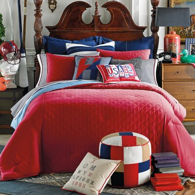 Prep Solid Duvet Cover Set Size: Full / Queen, Color: Nantucket Red