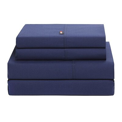 Signature 200 Thread Count Sheet Set Size: Full, Color: Dark Blue