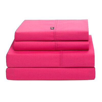 Signature 200 Thread Count Sheet Set Size: Full, Color: Berry Rose