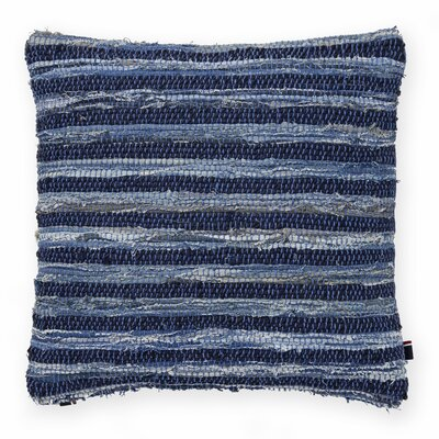 Rag Rug Decorative Throw Pillow Color: Blue/Multi