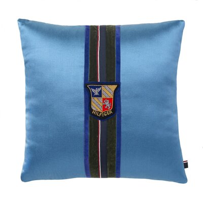 Velvet Stripe Decorative Cotton Throw Pillow Color: Blue
