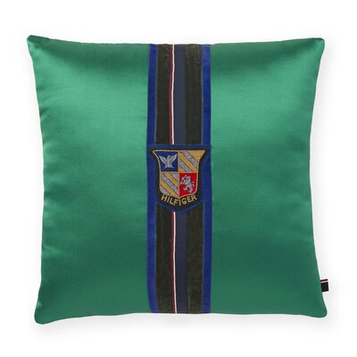 Velvet Stripe Decorative Cotton Throw Pillow Color: Green