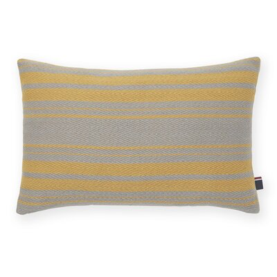 Woven Stripe Decorative Cotton Lumbar Pillow Color: Dijon