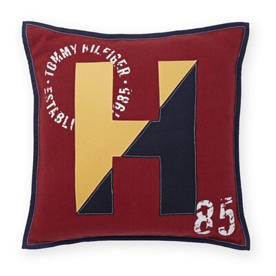 Applique Logo Decorative Cotton Throw Pillow