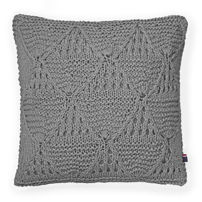 Bar Harbor Cotton Throw Pillow Color: Gray
