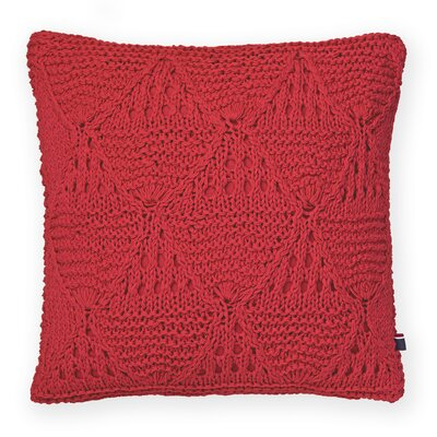 Bar Harbor Cotton Throw Pillow Color: Red
