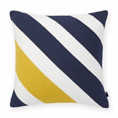 Diagonal Stripe Cotton Throw Pillow