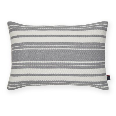 Woven Stripe Decorative Cotton Lumbar Pillow Color: Ivory