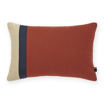 Pieced Decorative Cotton Lumbar Pillow